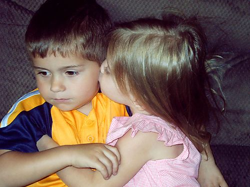 Emma smooches Liam